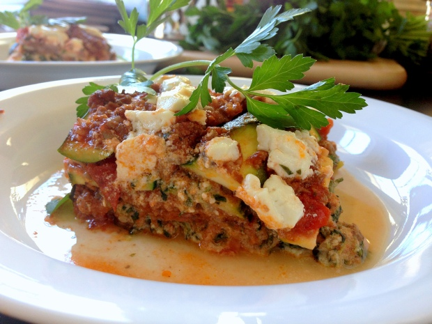 Meat, Veggie, & Goat Cheese Lasagna 2