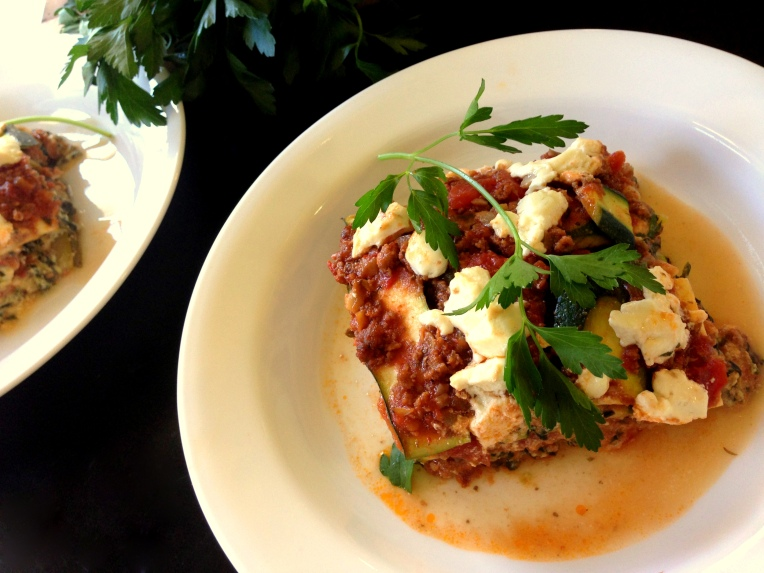 Meat, Veggie, & Goat Cheese Lasagna 3