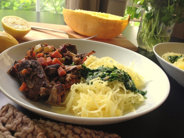 Slow Cooker Shortribs & Spaghetti Squash with Cilantro Pesto 2